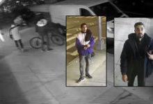 صورة بالفيديو.. كاميرات المراقبة تفضح 3 أشخاص سرقوا دراجتين ببروكلين والشرطة تطالب بالتعرف عليهم