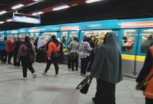 صورة مصرية تضع مولودها داخل قطار مترو الأنفاق