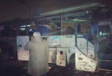 صورة ننشر الصور الأولى لحادث تفجير اتوبيس سياحي بمنطقة الهرم المصرية
