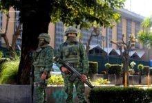 صورة هجوم بالمتفجرات على القنصلية الأمريكية في مدينة غوادلاجارا المكسيكية