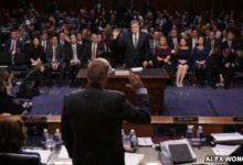 """صورة لجنة بالكونغرس تدرس حذف """"بعون الله"""" من قسم الشهادة"""