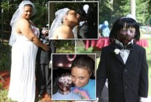"""صورة بالصور.. فتاة أمريكية تتزوج من دميتها """"الزومبي"""".. وهذه تكلفة حفل الزفاف"""