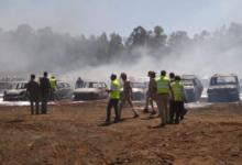 صورة بالفيديو.. حريق هائل يلتهم 300 سيارة في الهند
