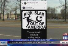 صورة مدير مدرسة أمريكية يحرض ضد المسلمين.. ورد رسمي من إدارة التعليم