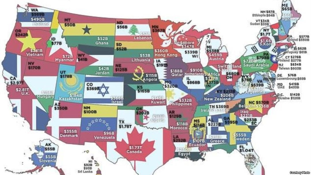 الولايات الأمريكية أغنى من الدول تعرف على الناتج المحلي لكل ولاية نيويورك نيوز