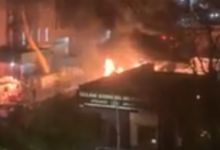 صورة بالفيديو.. تفاصيل حريق قمامة كبير في هارلم بمانهاتن