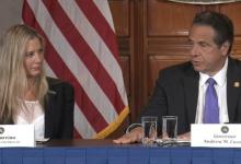 صورة نجمة أمريكية تكشف في مؤتمر مع عمدة نيويورك تعرضها للاغتصاب