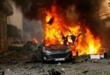 صورة انفجار سيارة مفخخة قرب وزارة الدفاع الإسرائيلية فى تل أبيب