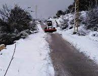 صورة تساقط كثيف للثلوج بولاية كولورادو