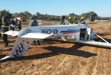 صورة إصابة شخص في تحطم طائرة خفيفة بولاية ماساتشوستس