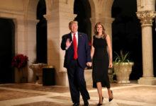 صورة ترامب يعلن نتيجة فحص كورونا لزوجته ميلانيا