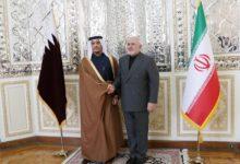 صورة جدل واسع حول شكل علم قطر أثناء لقاء وزير خارجيتها مع نظيره الإيراني