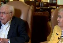 صورة فيديو.. أكبر زوجان سنا فى العالم يحتفلان بعيد الحب الـ85 لهما