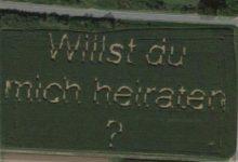 صورة ألمانى يجد لوحة يطلب فيها الزواج من حبيبته على خرائط جوجل