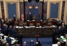 صورة بعد التصويت لعدم استدعاء شهود للمحاكمة.. ماذا تعني تبرئة ترامب ؟