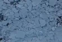 صورة ذوبان بحيرة متجمدة فى ولاية يوتا الأمريكية (فيديو)