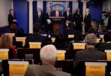 صورة حالة كورونا مشتبه بها بين المراسلين الصحفيين في البيت الأبيض