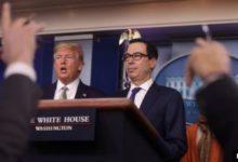 صورة وزير الخزانة الأمريكي يتحدث عن آخر ما وصلت إليه مفاوضات «المساعدات المالية»