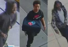 صورة ثلاثة رجال يهاجمون عامل توصيل بـ«دومينوز» ويسرقون دراجته في نيويورك