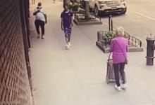 صورة بالفيديو.. رجل أسود يوجه لكمة قوية لمسنة بيضاء عمرها 92 عامًا بأحد شوارع مانهاتن