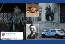 صورة نيويورك تقرر إزالة تمثال «روزفلت».. وترامب يعترض