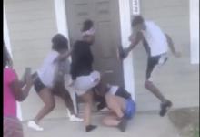 صورة بالفيديو.. اعتداء وحشى على امرأة حامل وطفلها فى إلينوى
