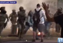 صورة بالفيديو.. اعتداء شرطى أمريكى على أحد المحاربين القدامى ببورتلاند