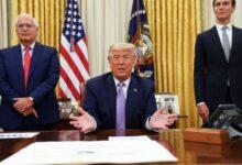صورة مستشار بالبيت الأبيض يدعو لمنح ترامب جائزة نوبل للسلام بعد الاتفاق الإماراتى الإسرائيلى