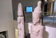 صورة بالصور.. عودة تمثالين ملكيين من أمريكا إلى مصر لعرضهما بالمتحف المصرى الكبير
