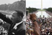 صورة بالفيديو والصور.. الآلاف بواشنطن يحيون ذكرى مسيرة مارتن لوثر كينج عام 1963 ضد العنصرية