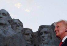 صورة هل يرغب ترامب إضافة وجهه إلى نقوش بارزة لأربعة رؤساء على جبل رشمور ؟