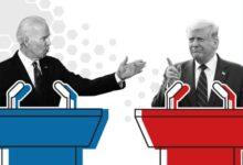 صورة بث مباشر للمناظرة الأولى بين ترامب وجو بايدن المرشحين لرئاسة الولايات المتحدة