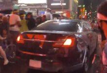 صورة شرطة نيويورك تحدد هوية صاحب واقعة اختراق المتظاهرين بسيارته في تايمز سكوير