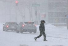 صورة بالصور.. العاصفة الثلجية تسيطر على نيويورك وتكسوها بالبياض