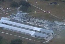 صورة نفوق نحو ربع مليون دجاجة فى حريق بولاية فلوريدا