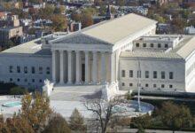 صورة إخلاء مبنى المحكمة الأمريكية العليا بواشنطن بسبب تهديد بوجود قنبلة