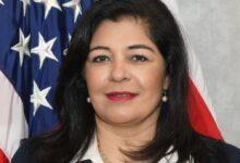 صورة صايمة محسن.. أول امرأة مسلمة تتولى منصب المدعي العام في الولايات المتحدة