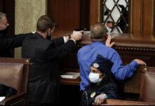 صورة تفاصيل وفاة امرأة بعد إصابتها بطلق ناري داخل مبنى الكونغرس