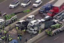 صورة بالفيديو.. قتلى ومصابون في حادث تصادم 100 سيارة بولاية تكساس