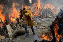 صورة عودة سيدة هندية من الموت بعد حرق جثتها !