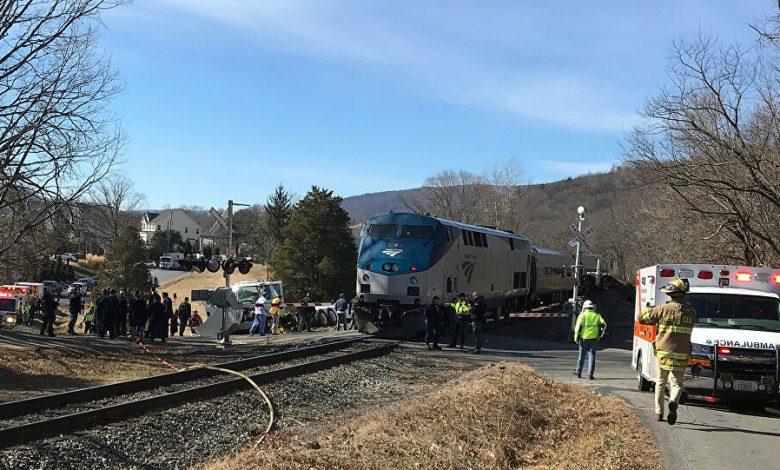 صورة تصادم قطارين في بوسطن يخلف 23 مصابًا