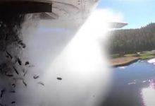 صورة بالفيديو.. طائرة تلقي 35 ألف سمكة في بحيرة أمريكية