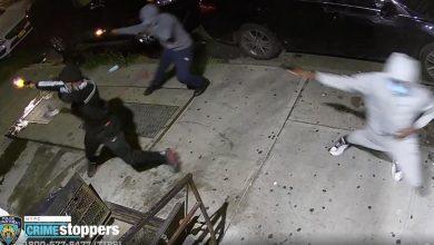 صورة بالفيديو.. ثلاثة مسلحين يفتحون النار على مجموعة من الأشخاص في بروكلين