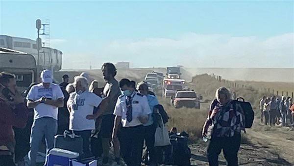 صورة قتلى ومصابون في حادث خروج قطار عن القضبان بولاية مونتانا الأمريكية