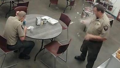 صورة بالفيديو.. انفجار بيضة في يد شرطي أمريكي بعد سلقها بالميكرويف
