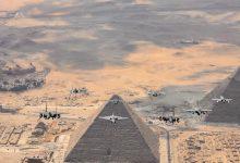 صورة الجيش الأمريكي ينشر صورة خاصة لـ«9 مقاتلات» فوق أهرامات الجيزة